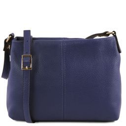TL Bag Soft leather shoulder bag Dark Blue TL141720