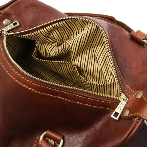 Lucrezia Leather maxi duffle bag Brown TL141977