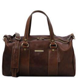 Lucrezia Leather maxi duffle bag Dark Brown TL141977