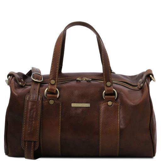 Lucrezia Leather maxi duffle bag Dark Brown TL141977