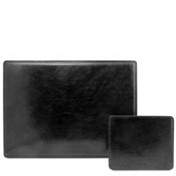 Office Set Leather desk pad and mouse pad Black TL141980