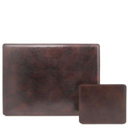 Office Set Leather desk pad and mouse pad Темно-коричневый TL141980