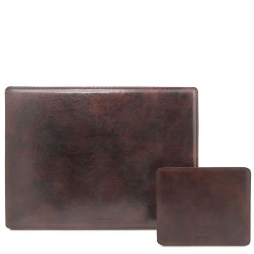 Office Set Leather desk pad and mouse pad Dark Brown TL141980