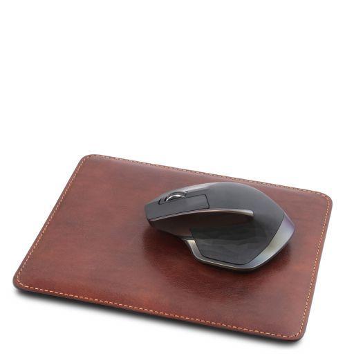 Office Set Sottomano da scrivania e tappetino per mouse in pelle Marrone TL141980
