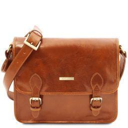 TL Postman Leather messenger bag Honey TL141288