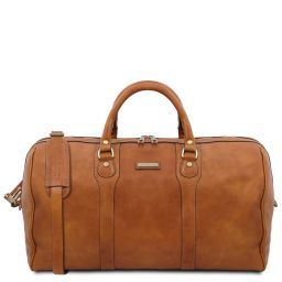 Oslo Travel leather duffle bag - Weekender bag Natural TL141913