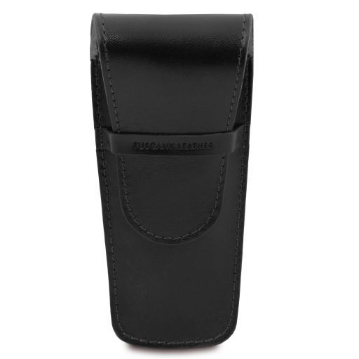 Exclusive leather 2 slots pen/watch holder Black TL141273
