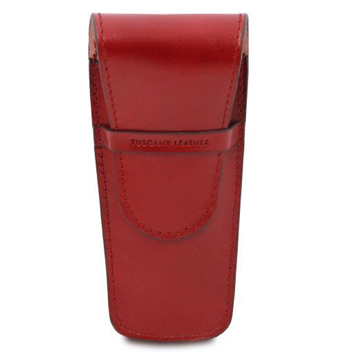 Elegante porta boligrafos a 2 espacios/porta reloj en piel Rojo TL141273