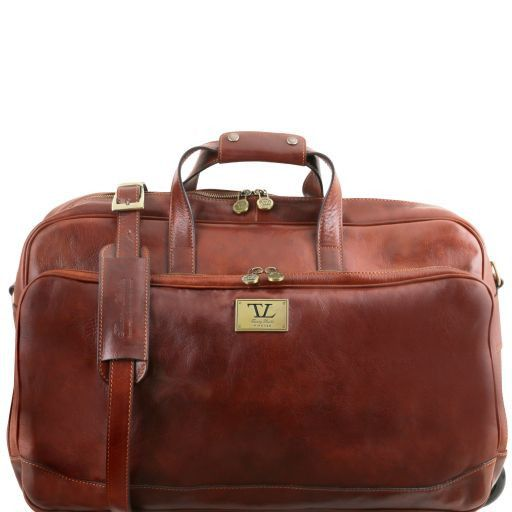 Samoa Trolley leather bag - Large size Brown TL141453