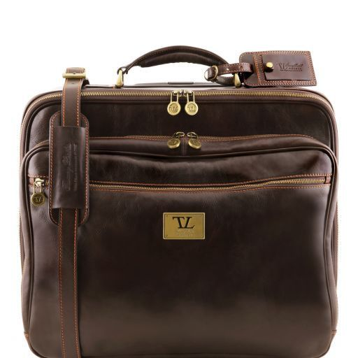 Varsavia Two Wheels Leather pilot case Темно-коричневый TL141454
