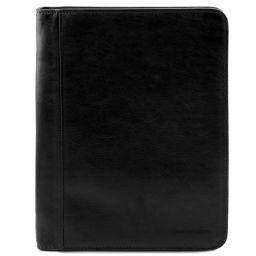 Luigi XIV Leather document case with zip closure Black TL141287