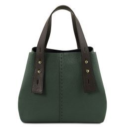 TL Bag Leather shopping bag Forest Green TL141730