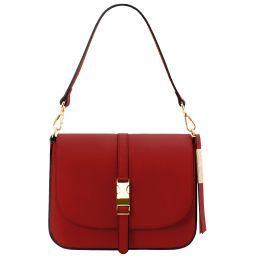 Nausica Leather shoulder bag Red TL141598