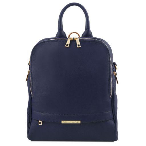TL Bag Mochila para mujer en piel suave Azul oscuro TL141376