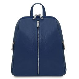 TL Bag Zaino donna in pelle morbida Blu scuro TL141982