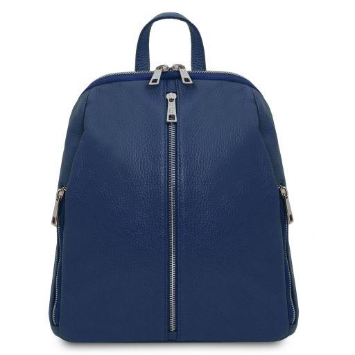 TL Bag Zaino donna in pelle morbida Blu scuro TL141982
