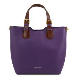 TL Bag Bolso shopping en piel Saffiano Violeta TL141696