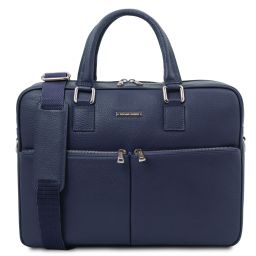 Treviso Leather laptop briefcase Темно-синий TL141986
