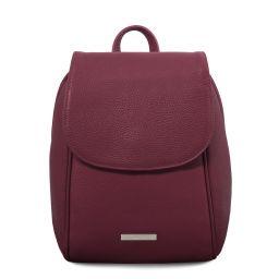 TL Bag Soft leather backpack Bordeaux TL141905