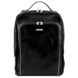 Bangkok Notebook Rucksack aus Leder Schwarz TL141793