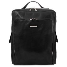 Bangkok Leather laptop backpack - Large size Black TL141987