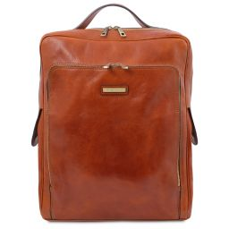 Bangkok Zaino porta notebook in pelle - Misura grande Miele TL141987