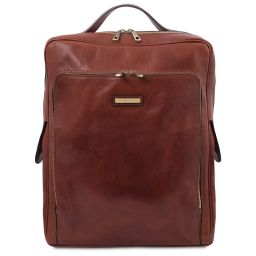 Bangkok Leather laptop backpack - Large size Коричневый TL141987