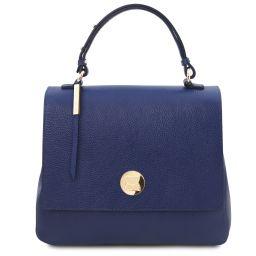Silene Handtasche aus Leder Dunkelblau TL141955