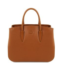 Camelia Leather handbag Cognac TL141728