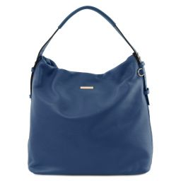 TL Bag Borsa hobo in pelle morbida Blu scuro TL141884