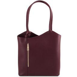Patty Saffiano leather convertible bag Bordeaux TL141455