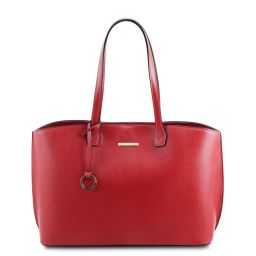 TL Bag Leather shopping bag Lipstick Red TL141828