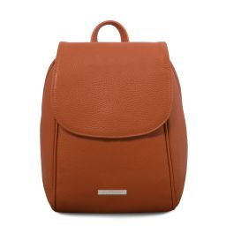 TL Bag Soft leather backpack Cognac TL141905