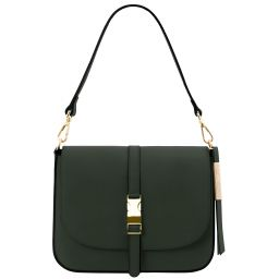Nausica Leather shoulder bag Forest Green TL141598
