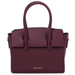 Brigid Leather handbag Bordeaux TL141943