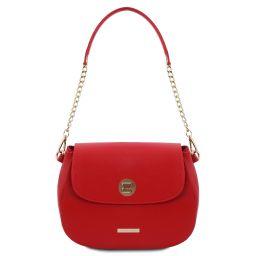 Fresia Leather shoulder bag Lipstick Red TL141956