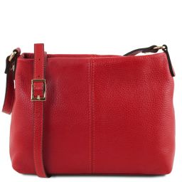 TL Bag Soft leather shoulder bag Lipstick Red TL141720