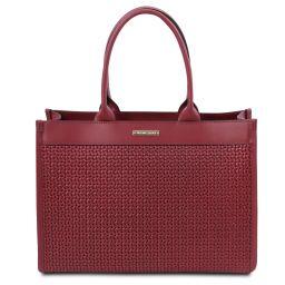 TL Bag Tasche aus geprägtem Leder Rot TL141724