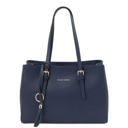 TL Bag Leather shoulder bag Dark Blue TL142037