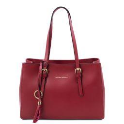 TL Bag Schultertasche aus Leder Rot TL142037