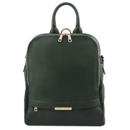 TL Bag Zaino donna in pelle morbida Verde Foresta TL141376