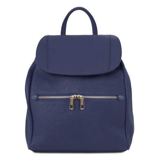 TL Bag Mochila para mujer en piel suave Azul oscuro TL141697