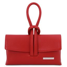 TL Bag Leather clutch Lipstick Red TL141990