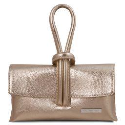 TL Bag Pochette in pelle metallic Oro TL141993