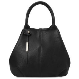 TL Bag Borsa shopping in pelle morbida Nero TL142005