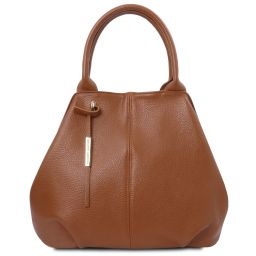 TL Bag Soft leather tote Cognac TL142005