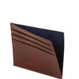 Esclusivo portacarte di credito in pelle Nero TL141494