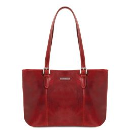 Annalisa Damen Shopping aus Leder Rot TL141710