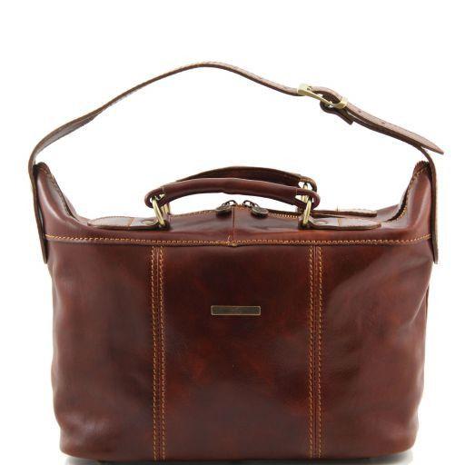Ibiza Mini travel leather bag Brown TL100309