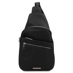 Albert Soft leather crossover bag Black TL142022
